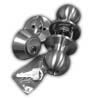Chrome Ball Knob Lock Set with Deadbolt